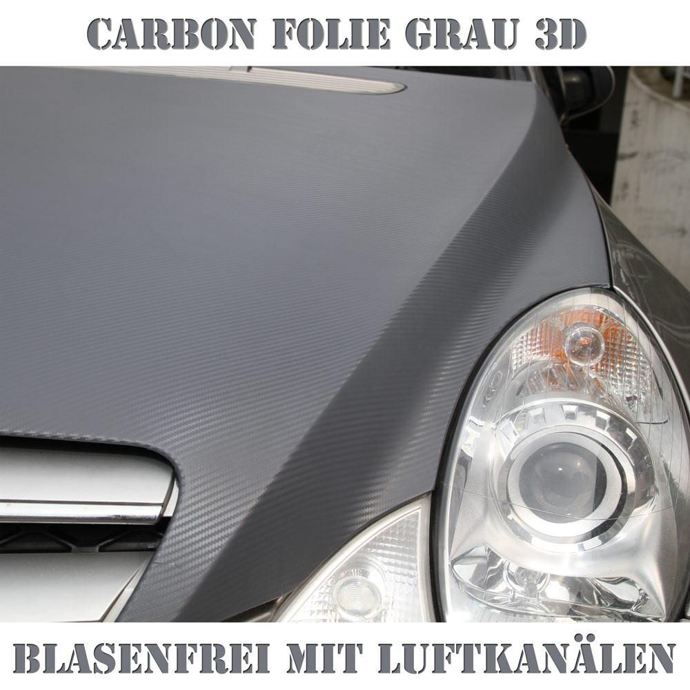 car wrapping auto folie 3d carbon grau z b dach opel zafira ebay. Black Bedroom Furniture Sets. Home Design Ideas