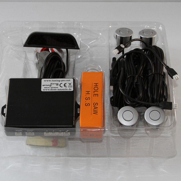 einparkhilfe r ckfahrwarner parktronik pdc 4x sensoren in silber mt3 ebay. Black Bedroom Furniture Sets. Home Design Ideas