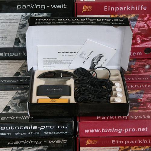 einparkhilfe mod 3 4x sensoren in weiss 18mm r ckfahrwarner parktronik pdc pts ebay. Black Bedroom Furniture Sets. Home Design Ideas